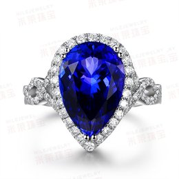 Wholesale Diamond Ring 5ct - Victoria Wieck Pear cut 5ct sapphire simulated Diamond 10KT White Gold Filled Engagement Wedding Band Ring Set Size 5-11 gift