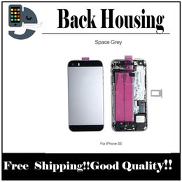 Wholesale Iphone Middle Frame Assembly - Back Battery Cover Housing With Flex Cable For iPhone SE Full Housing Assembly Metal Alloy Housing Chassis Middle frame fast free shipping