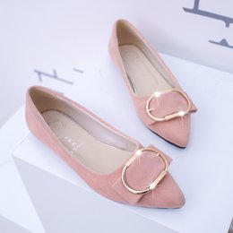 Wholesale Grey Dress Work Office - Shiny buckle decorative pointed dress shoes ladies shoes banquet wedding visit customers to work omnipotent want to go where to go