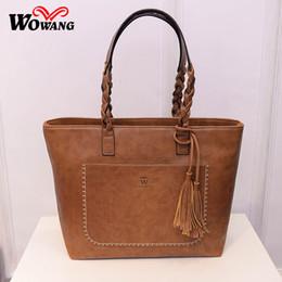 Wholesale Large Vintage Tote Wholesale - Wholesale- 2016 Women Leather Handbags High Quali Women Messenger Bags Brand Vintage Shoulder Bag Large Capacit Crossbody Bag Clutch Bolsas
