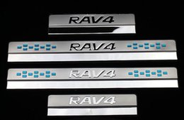Wholesale Pedal Steel - For Toyota RAV4 RAV 4 2013 2014 2015 2016 Stainless Steel Door Sill Protector Pedal Scuff Plate Cover Trims Car Accessories 4Pcs