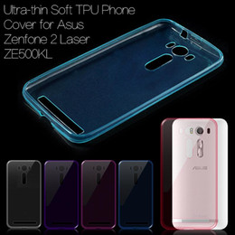 Wholesale Tpu Gel Asus - Wholesale- Ultrathin TPU Protective Cover Case for Asus Zenfone 2 Laser ZE500KL Z00ED 5.0 inch Mobile Phone Gel Soft Cases Zenfone2 Laser