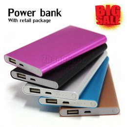 Wholesale Wholesale External Chargers - 2017 Power Bank 2600mAh External Battery Powerbank Charger Cell Phone Power Banks With Retail Box For Mobile Phone iPad Free Shipping