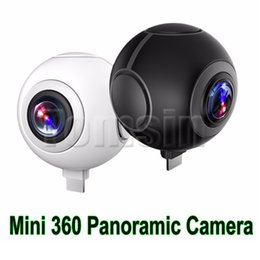 Wholesale Professional Smartphone - Mini 360 Panoramic Camera Micro USB  Type-C VR Camera Pano port Dual Angle FishEye Lens for Smartphone Supporting Share on Social Video