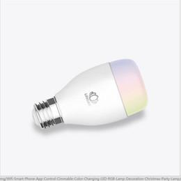 Canada Lampe à économie d'énergie de gros-Led lampe e27 ZigBee téléphone mobile télécommande avec l'ampoule à changement de couleur de musique cheap energy saving bulb light Offre