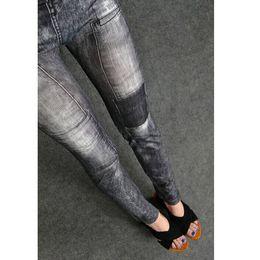 Wholesale Coloured Jeans Wholesale - Wholesale- 2016 New Arrival New Women Skinny Denim Stretch Jeggings Trousers Jeans Pants Leggings 2 Colours