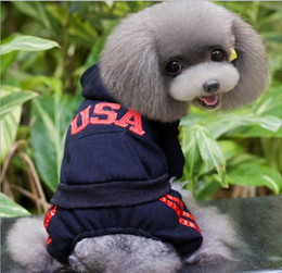 Wholesale Cute New Years Shirts - small dog sweater hooded clothes pet clothes fleece apparel costume cute dog tracksuit pet clothing for dog Cardigan pants PD003
