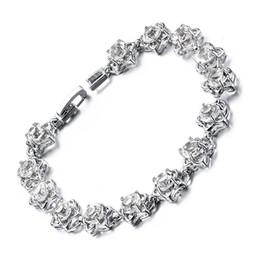 2019 chaîne bracelet en diamant Meaeguet Date femmes bracelet à maillons de la main bracelet de fiançailles charme braceletsbangles cubique zircon bracelet en forme d'étoile FBR-025