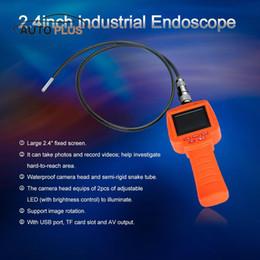 "Wholesale Endoscope Dvr - KKmoon Car 3.9mm Portable Inspection Camera Endoscope Borescope 2.4"" Screen DVR Video Recorder Waterproof AV Out TF"