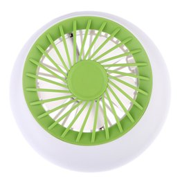 Wholesale Smallest Electric Fans - Wholesale- 2017 Rechargeable Fan USB Portable Desk Mini Fan for Office USB electric air conditioner small fan Angle Adjustment 1200mA
