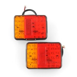Wholesale Car Tail Lights Wholesale - Hot new 2x 12V 30 LED Taillight Truck Car Van Lamp Tail Trailer Light E-Marked free shipping