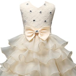 Wholesale Children S Wedding Gowns - FantastCostumes Girls Sequins Lace Tutu Party Wedding Princess DresWinter Formal Gown Ball Flowers Clothes Children Clothing Party Girl