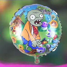 Wholesale Zombie Wholesale Toys - 18inch Plants Vs Zombies foil balloons 100pcs halloween party supplies children's toys kid gifts ballons