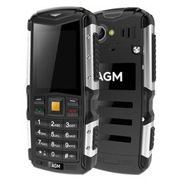 Wholesale M1 Bluetooth - AGM M1 2.0 inch IP68 Cellphone dustproof shockproof Dual SIM 3G WCDMA MP3 2MP Camera cellphone.
