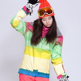 Wholesale Multi Colour Jacket - New lady clothing Article female money waterproof and windproof colour ski jacket Veneer double plate thickening to keep warm