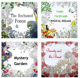 Wholesale Beauty Dreams - 4 Style Coloring Books Relieve Stress Painting Books forest dreams Beauty and beast for Adult and kids