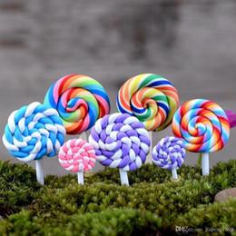 Wholesale Lollipop Ornament - 2PCS Resin Lollipop Garden Decoration Ornaments Mini Crafts Bonsai Micro Landscape Craft Fairy Garden Miniatures