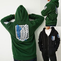 Wholesale Cosplay Anime Attack Titan - Attack on Titan Men Women Gold Jacket Hoodies Winter Sweatshirt Coat Patry Cosplay S-2XL CS005