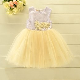 Wholesale wholesale tulle for tutus - Baby Girls Dress Girl Lace Tulle Tutu Dresses Princess Party Dress Good Quality For 1~7 Y