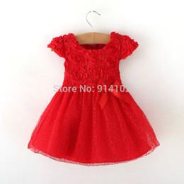 Wholesale Toddlers Evening Dresses - Wholesale- Retail 5 Layer Baby Girl Tu Tu Dress Fashion Flowers Princess Evening Short Dresses Toddler Girls Summer Casual Dress