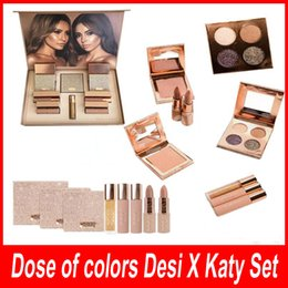 Wholesale Doc Girl - Dose of colors Desi X Katy Set THE GIRLS eyeshadow palette from DOC Collection eyeshadow highlighter Lipstick Lipgloss DHL