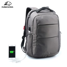 Wholesale Function Laptop Bags - Kingsons External Charging USB Function Laptop Backpack Anti-theft Man Business Dayback Women Travel Bag 15.6 Inch
