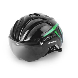 Wholesale Magnetic Goggles - WINMAX Bicycle Cycling Helmet Ultralight Integrally-molded MTB Road Bike Helmet Goggles Helmet with Magnetic UV Visor