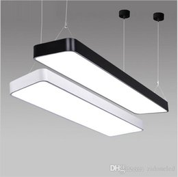 Wholesale Modern Suspended Light Fixture - super bright LX220 study office modern LED ceiling pendant lamp rectangle Suspended Pendant light fixtures home White light