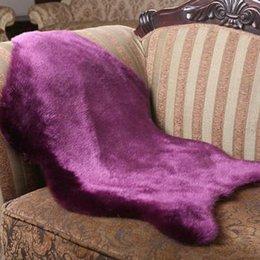 Wholesale European Classic Sofa - 30tt Imitation Sheepskin Solid Color Carpet Pad Whole Sheepskins Wool Sofa Mats Blending European Classic Rug Mat Commercial Non Slip