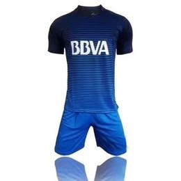 Wholesale Sports Jersey Kits - 17 18 Boca Juniors soccer men's short sleeve thai quality soccer jerseys Boca blue football wear soccer kit sport sets