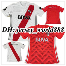 Wholesale Drier Plates - Top Thai quality 17 18 RIVER PLATE Home jersey soccer TEO D,ALESSANDRO BALANTA CAVENAGHI VANGIONI 2017 River Plate AWAY red Football shirt