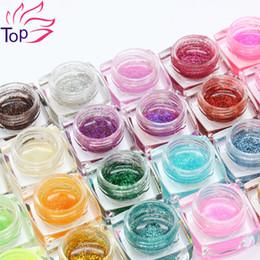Wholesale Glitter Diamond Nail Designs - Wholesale-24 Colors 8ml Glitter Resin UV Gel Shiny Diamond Power Polish For Manicure Design 3D Nail Art Decorations JH338