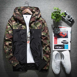 Wholesale Men S Camouflage Jackets - Wholesale- 2017 Fashion Mens Camouflage Jacket Brand Spring Casual Thin Male Camo Outwear Coat Hooded Jacket chaquetas mujer 040506