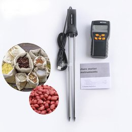 Wholesale Coffee Thermometers - Freeshipping LCD Digital Grains Moisture Meter Thermometer Humidity Tester Rice Corn Wheat Coffee Bean Wet Tester Hygrometer with CPU