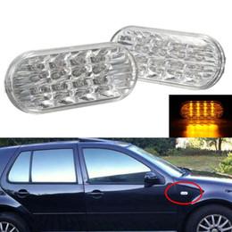 Янтарный для крыла светодиодные боковые габаритные огни сигнала поворота лампы для VW MK4 Golf/Jetta Passat прозрачный объектив от