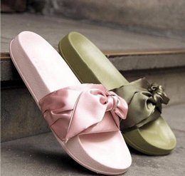 Wholesale Womens Slipper Booties - Free Shipping 2017 New Womens Fenty Bandana Slide RIHANNA Slippers New In Box