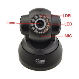 Wholesale Ip Functions - 1pcs Home Use Hight Quality 300,000 pixel P2P IP Security CCTV Surveillance Camera NIP-002OAMTF Support the TF card function