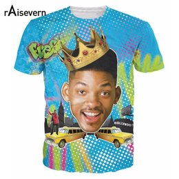 prince tees Promo Codes - Wholesale- Raisevern New Design 3D T Shirt Fresh Prince Of Bel Air So Fresh Will Smith Print 3d Tshirt Tees For Men Women Plus Size Shirts