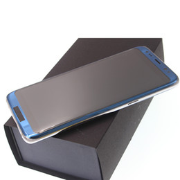 Wholesale Blue Czech Glass - New Goophone S8 edge Qualcomm Snapdragon 835 Quad Core Android 7.0 1280*720 HD 8MP 3G WCDMA 1GB 16GB Metal Frame Glass Back 5.5 Smartphone