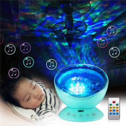 Wholesale Music Baby Speaker - 7 Light Modes Baby Room Light Remote Control Hypnosis Ocean Wave Night Light Projector ,TF Card Music Player Speaker Lamp