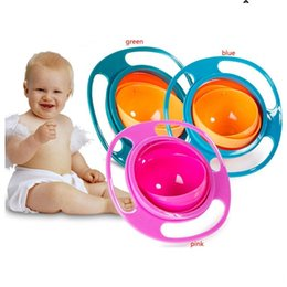 Wholesale Baby Spill Rotating Bowl - Baby Feeding 360 Rotate Gyro Spill Proof Bowl Toddler Avoid Food Spilling Children Creation Bowl As Feeding Supplies Flying Saucer