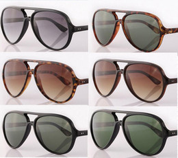 Wholesale Eye Protections - New Arrival Unisex Women's CATS5O00 15 Colors Glass G15 Lens Sunglasses UV400 Protection +Box