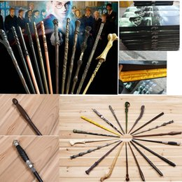 Wholesale Wholesale Harry Potter Wands - harry potter Magical Wand dumbledore Hogwarts wand cosplay wands Hermione Voldemort Magic Wand In Gift Box 18 design KKA2031