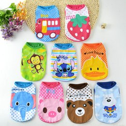 Wholesale Bear Kitty - Pet Vest Pure Cotton Sleeveless Garment Ventilation Gilet Spring Summer Clothes For Poodle Bear Kitty Dog Apparel Easy To Carry 5md H1 R