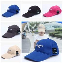 Wholesale Basketball Loop - 5 Colors Fashion Mesh Ball Cap Summer Unisex Hat Bluetooth Smart Cap Wireless Headset Headphone Speaker Basketball Ball Caps CCA7470 100pcs