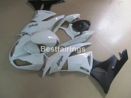peças kawasaki zx6r Desconto Novo corpo quente kit de carenagem para Kawasaki Ninja ZX6R 09 10 branco preto carenagem conjunto ZX6R 2009 2010 GT16