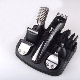 Wholesale Shaving Machine Man - 6 in 1 hair trimmer titanium hair clipper electric shaver beard trimmer men styling tools shaving machine cutting