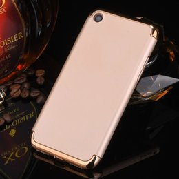 Wholesale Electroplated Battery - Luxury Electroplate Hybrid Armor 3 in 1 Ultra-thin Hard Back Cover Electroplating Case for Iphone 7 Samsung S7 Xiaomi Huawei P9 mate9