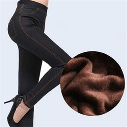 Wholesale Girls Size Jeggings - Wholesale- Plus Size Women Slim Leggings Jeans Legging Woman High Waist Jeggings Fitness Girls Leggings Sexy Disco Pants lz821