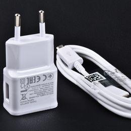 Wholesale Travel Plugs - original samsung 5v2a wall charger EU UK charge plug OEM Samsung travel fast charger adapter ETA-U90EWE Galaxy S3S4S6S7Edge NOTE345 N7100
